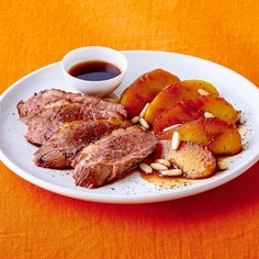 Roasted Duck Breast with Apple