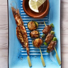 Teriyaki skewer mix