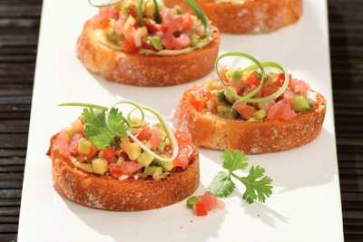 Bruschetta with Tuna & Avocado Tatar