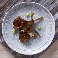 Lamb chops in Teriyaki garlic glaze