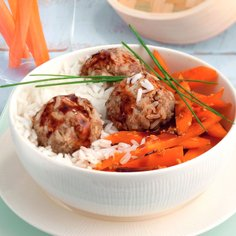 Asian Mini Rice & Meatballs