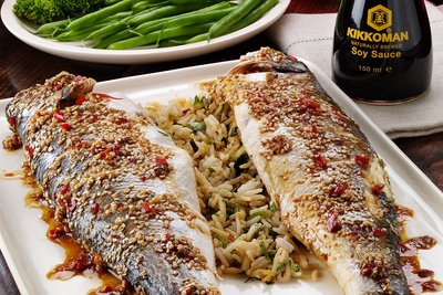 Fragrant Stuffed Sea Bass