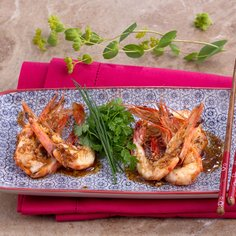 King Prawns in Spicy Soy Sauce