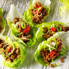 Pork and lettuce wraps