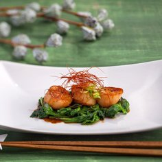 Hotategai Shichimi-Shoyu yaki – Grilled Scallops with Shichimi or Chili Soy Sauce