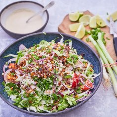 Asian salad with lime vinaigrette