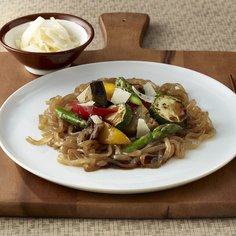 Shirataki Linguini with Pan-Fried Vegetables