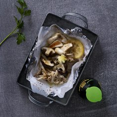Foil grilled mushrooms with butter